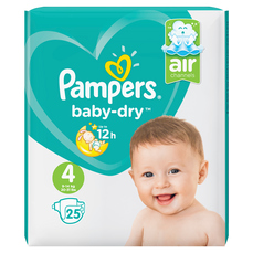 Les couches Pampers Baby-Dry Canaux d'air