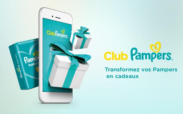 Téléchargez l'application et transformez vos Pampers en cadeaux!